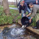 Fischbesatz ist eine wichtige Aufgabe der Gemeinschaft